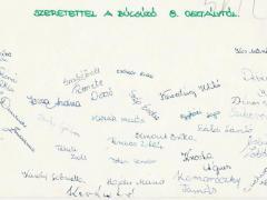 1976-1977 8.a aláírások