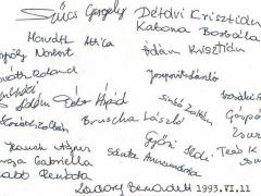 1992-1993. 8.a aláírások