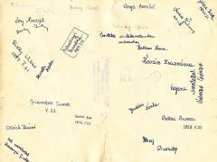 1958-1959 lány aláírások