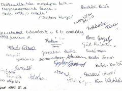 1992-1993. 8.b aláírások