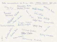 1999-2000. 8.a aláírások