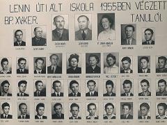 1954-1955-ben végzett fiú osztály